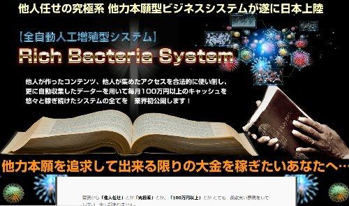 RBSリッチバクテリアシステム アダルトアフィリエイトでも他ジャンルでも稼げる大規模システム